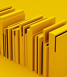 simplified-yellow-stack-of-books-3d-illu