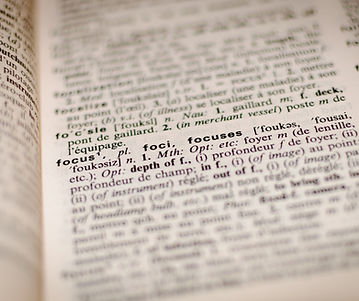 dictionary page defining focus