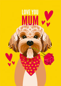 Cockapoo Dog Mothers Day Card