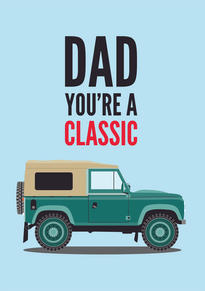 Land Rover Discovery Fathers Day Card