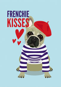 French Bulldog Anniversary & Valentine Card