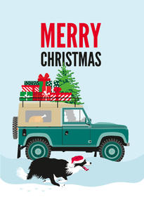 Land Rover Discovery Christmas Card