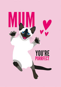Siamese Cat Mothers Day Card
