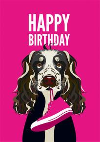 Cocker Spaniel Birthday Card