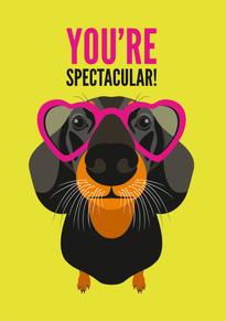 Dachshund Specs Anniversary & Valentine Card