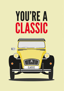 Citroen 2CV Classic Fathers Day Card