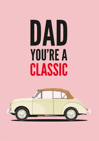 Morris Minor Fathers Day Card