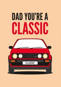 VW Golf GTI Fathers Day Card