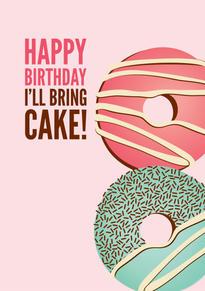 Donuts Birthday Card