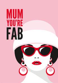 Fabulous Mum Mothers Day Card