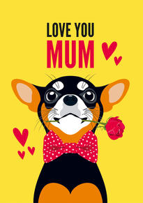 Chihuahua Dog Mothers Day Card