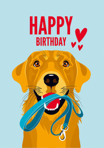 Yell Labrador Birthday Card
