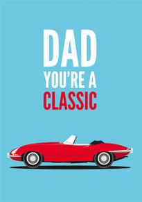 E Type Jaguar Birthday Card