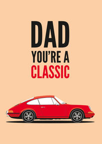 Porsche Classic 911 Fathers Day Card