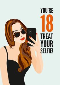 18th Selfie Birthday Card
