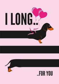 Dachshund Long Anniversary & Valentine Card