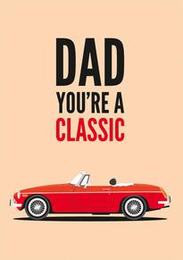 MGB Roadster Birthday Card