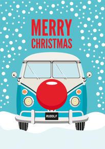 VW Camper Van Christmas Card