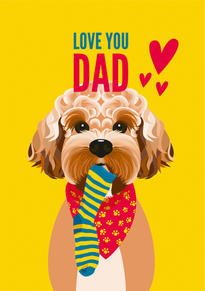 Cockapoo Dog Fathers Day Card