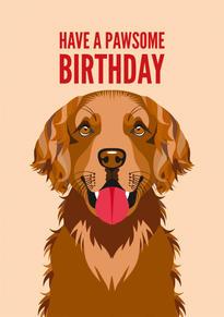 Retriever Birthday Card