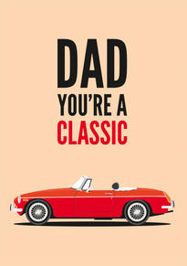 MGB Roadster Fathers Day Card