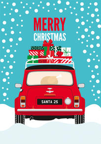 Mini Cooper Christmas Card