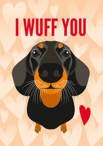 Dachshund Anniversary & Valentine Card
