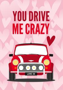 Mini Cooper Anniversary & Valentine Card