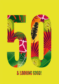 50th Number Birthday Card
