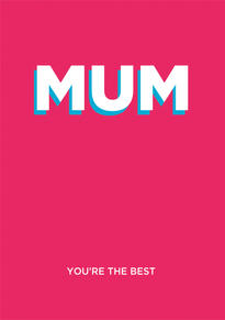 You're the Best Mothers Day Card