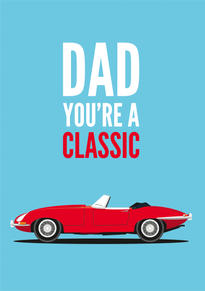 E Type Jaguar Fathers Day Card