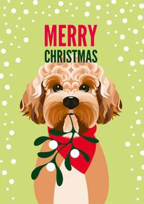 Cockapoo Christmas Card