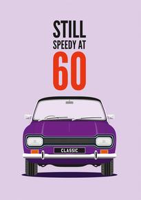 60th Birthday Escort Card