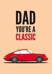 Porsche 911 Birthday Card