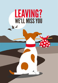 Jack Russell Leaving Card