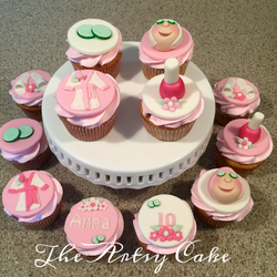 Spa themed cupcakes