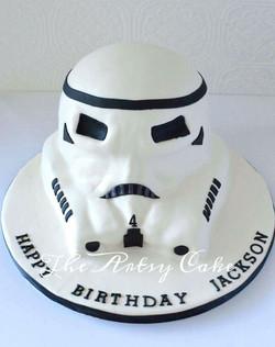 Stormtrooper sculpted cake