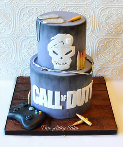 Call of Duty grooms cake