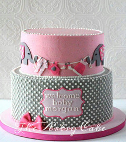Pink and grey elephant