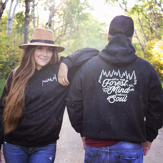 Into the forest I go to lose my mind and find my soul campfire hoodie