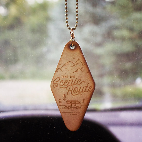Take the scenic route car mirror charm