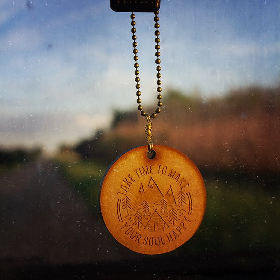 Take time to make your soul happy car mirror charm