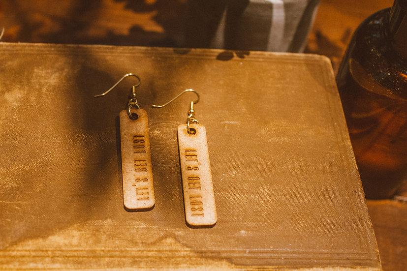 Wood Lets get Lost earrings