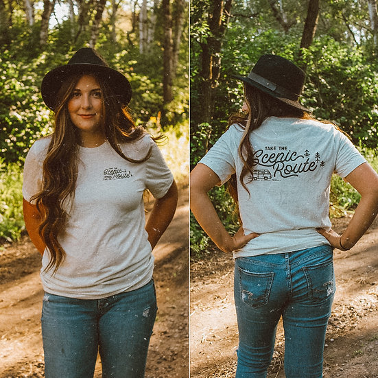 Take the scenic route tee