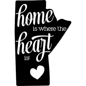 Home is where the heart is decal