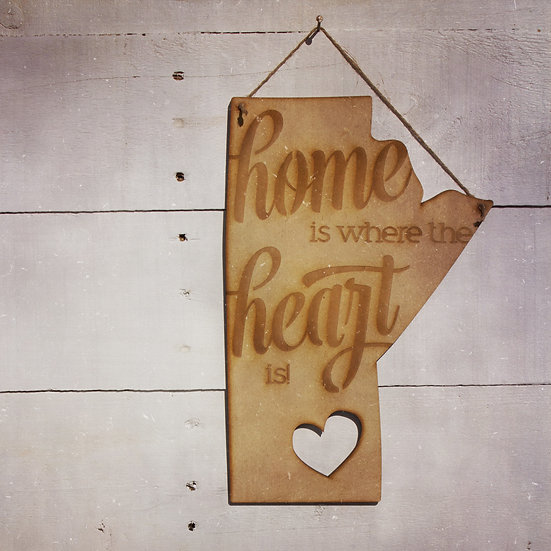 Home is where the heart is wall hanging