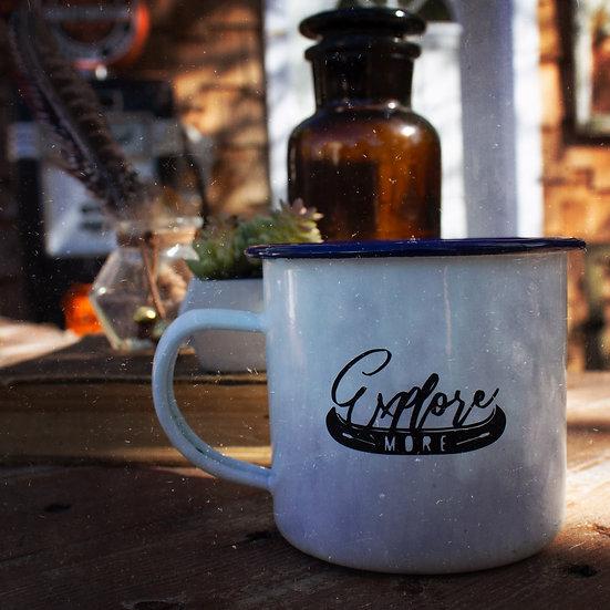 Explore more enamel campfire mug