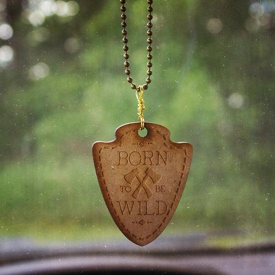 Born to be wild car mirror charm
