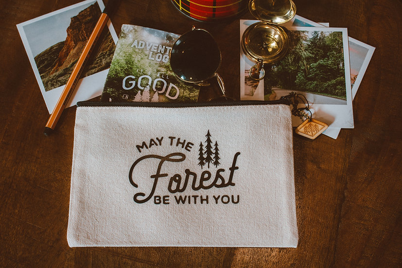may the forest be with you white travel bag