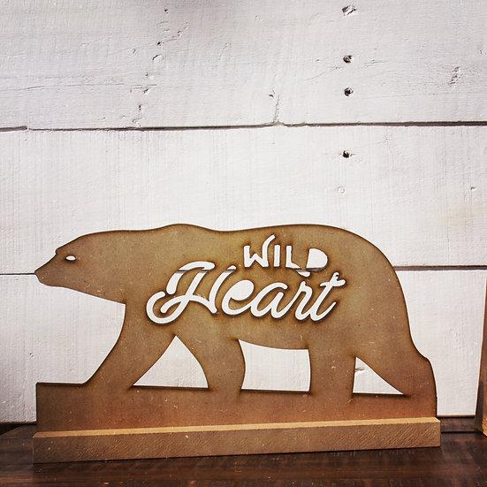 Wild heart statue
